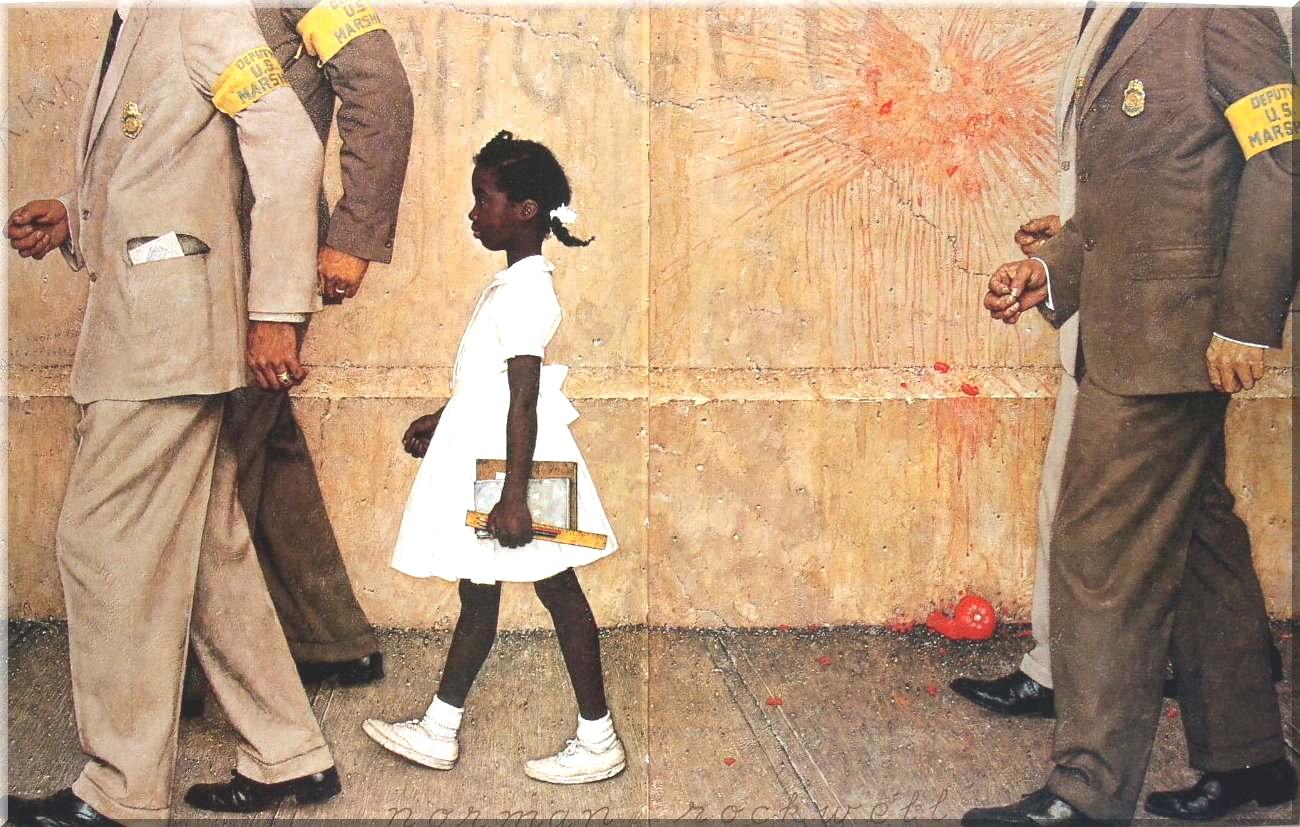 the problem we all live with The problem we all live with (en français : le problème avec lequel nous vivons tous) est une œuvre du peintre américain norman percevel rockwell parue dans le.