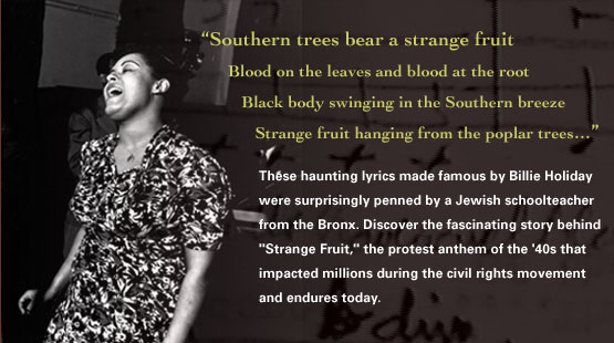 an analysis of the poem strange fruit by allan lewis Home essays analysis of strange fruit  who went by the pen name lewis allen (california newsreel, 2002)  in the poem strange fruit, by billie holiday.